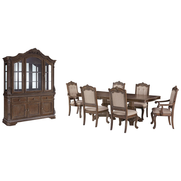 Charmond 8 Piece Casual Dining - Brown