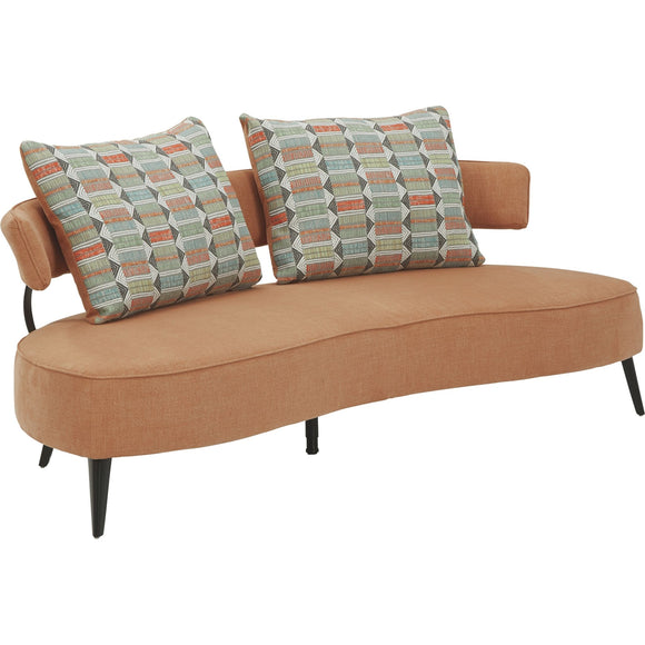 Hollyann Rta Sofa - Rust