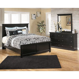 Maribel 5 Piece Queen Bedroom - Black