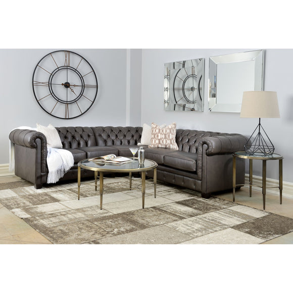 Talia  3 Piece Sectional - Charcoal