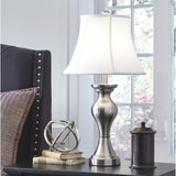 Rishona Table Lamp Pair - Silver
