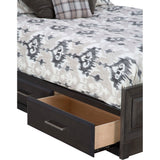 Verona 4 Piece Queen Bed with Storage - Graphite