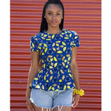 Tops - High-Low Peplum Top by Yetunde Sarumi - 1