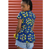 Tops - High-Low Peplum Top by Yetunde Sarumi - 2