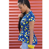 Tops - High-Low Peplum Top by Yetunde Sarumi - 3