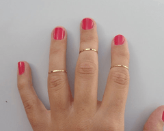 Jewelry - Brass Midi Rings by Mahnal - 1