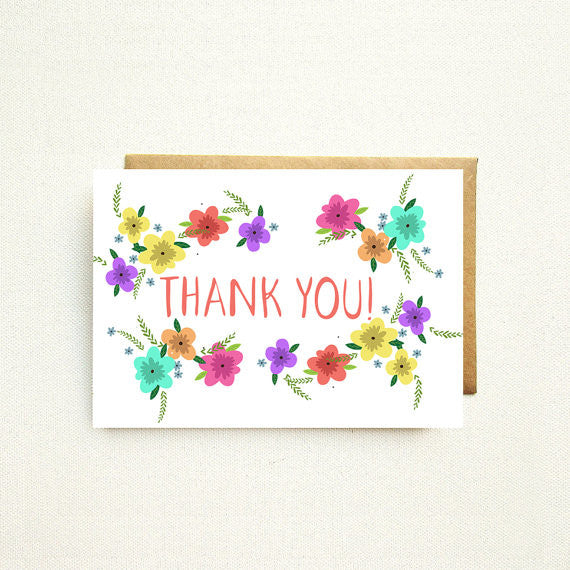 Stationery - Thank You Stationery Set by Nicole Marie Paperie - 1