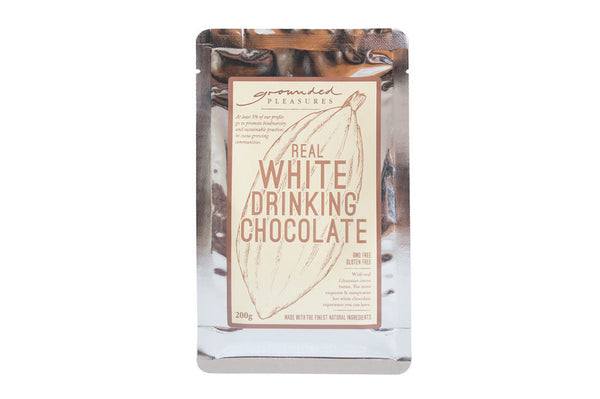 GROUNDED PLEASURES DRINKING CHOCOLATE - REAL WHITE