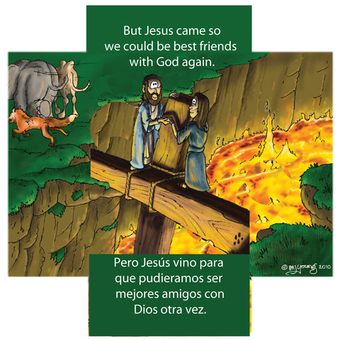 Children's tract in English and Spanish panel 3