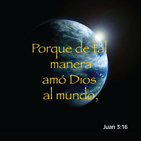 John 3:16 in Spanish 24 to a pack.  Size: 3 3/8 x 3 3/8