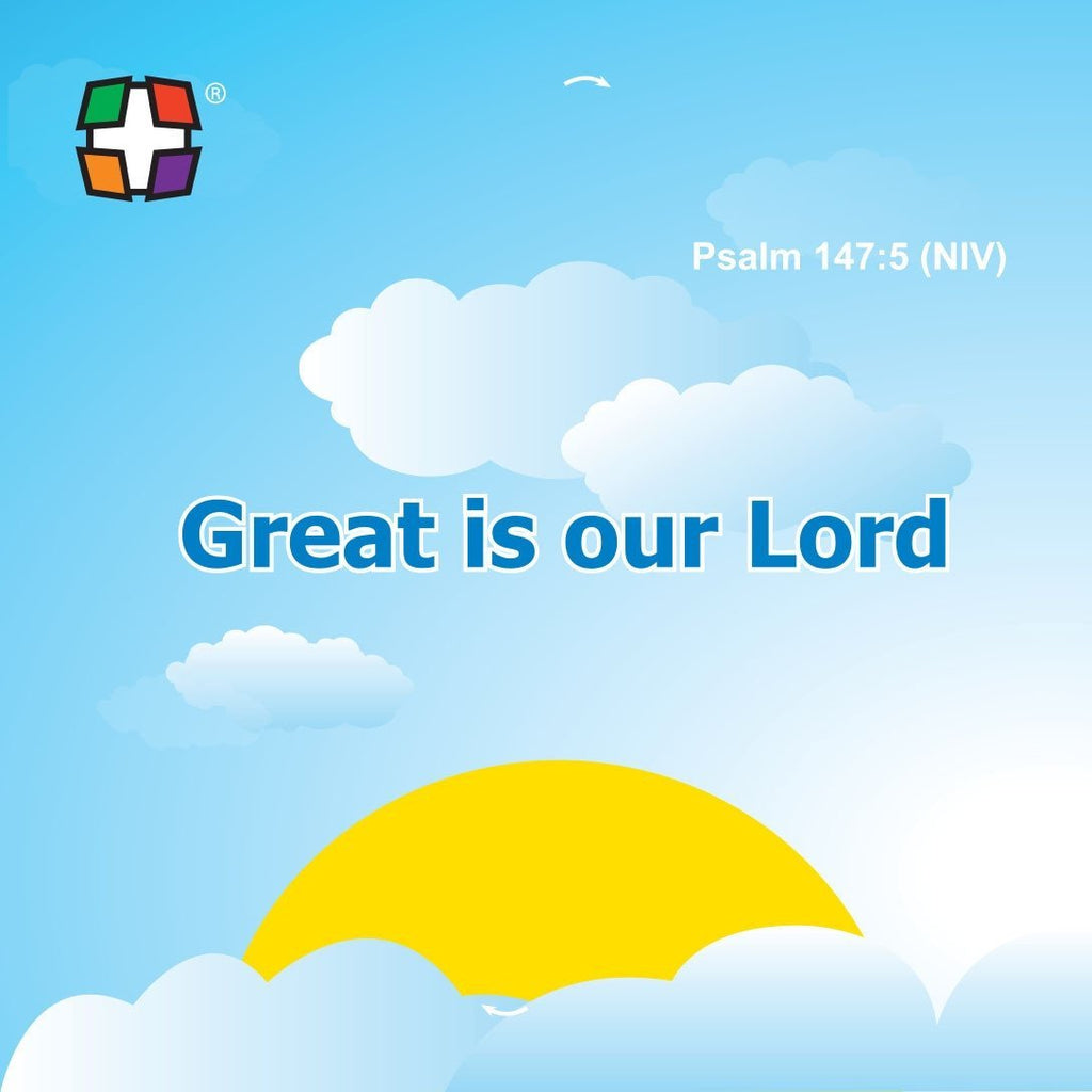 Psalm 147:5 -  24 to a pack size: 3 3/8 x 3 3/8