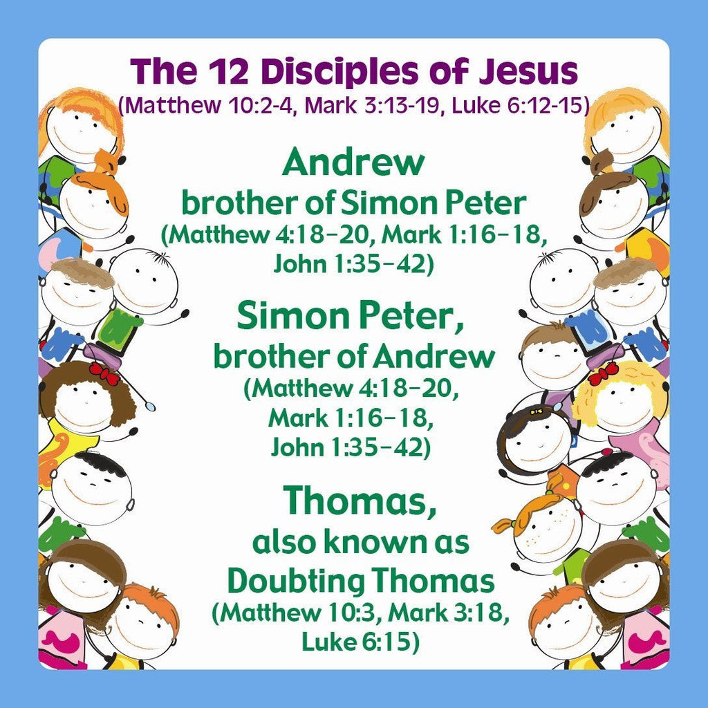 The 12 Disciples of Jesus 24 cards to a pack