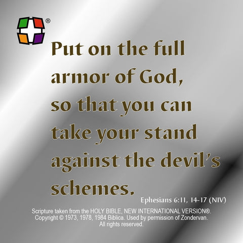 Armor of God 24 per pack.  Size: 3 3/8 x 3 3/8