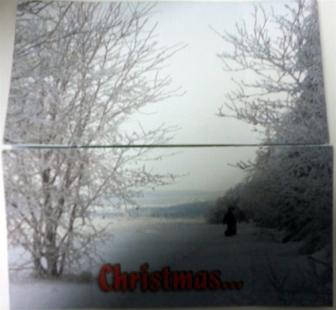 Christmas Card - Christmas Greetings Memory Cross Christmas Card.  - 12 to a pack & envelopes size: 6 x 6