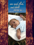 Christmas Card - The Word Made Flesh - 12 to a pack & envelopes size: 7 x 5 1/8-1
