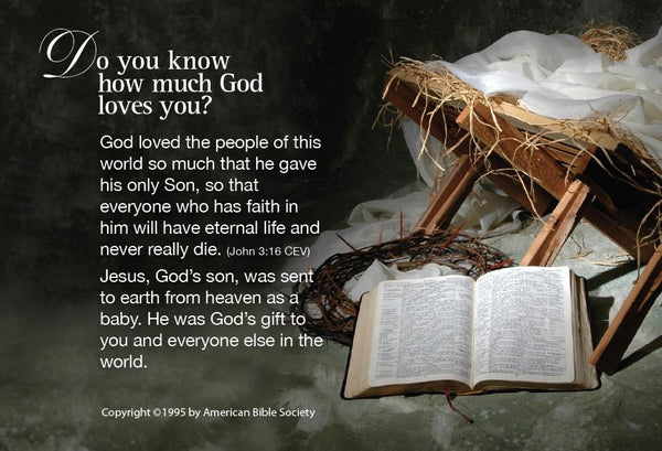 Christmas Gospel Tract Do You Know How Much God Loves You
