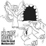 Easter Memory Cross Coloring Card  - 12/Pk Size: 6 x 6