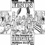 Jesus Loves Me Coloring Card  - 12/Pk.  Size: 6 x 6
