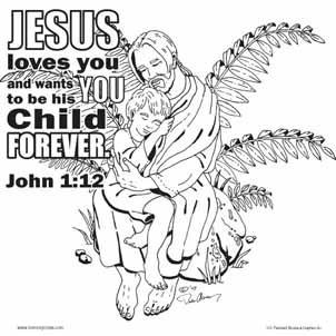 Jesus Loves Me Coloring Card by Memory Cross