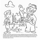 Parable of the Prodigal Son Bible Story Card.  12/Pk.  Size: 6 x 6