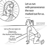 Let Us Run the Race Coloring Card 12/Pk  Size: 7 x 7