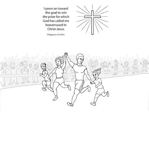 running the race coloring pages - photo#30