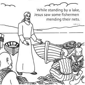 Miraculous Catch of Fish Bible Story. Origami design