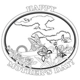 Mother's Day Coloring card - 12/pk  Size: 7 x 7
