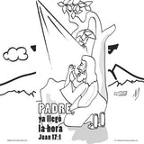 Spanish Easter Memory Cross Coloring Card  - 12/pk  size: 6 x 6