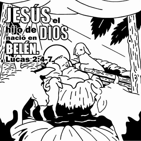 Jesus Loves Me Coloring Card Spanish version - 12/pk Size: 6 x 6