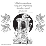 Christmas  Story Coloring Card - 12/Pk  Size: 6 x 6