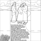 Spanish Jesus Lives Bible Story Card - 12/Pk Size: 6 x 6