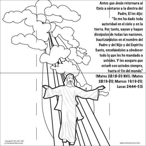 Spanish Jesus Lives coloring card by Memory Cross
