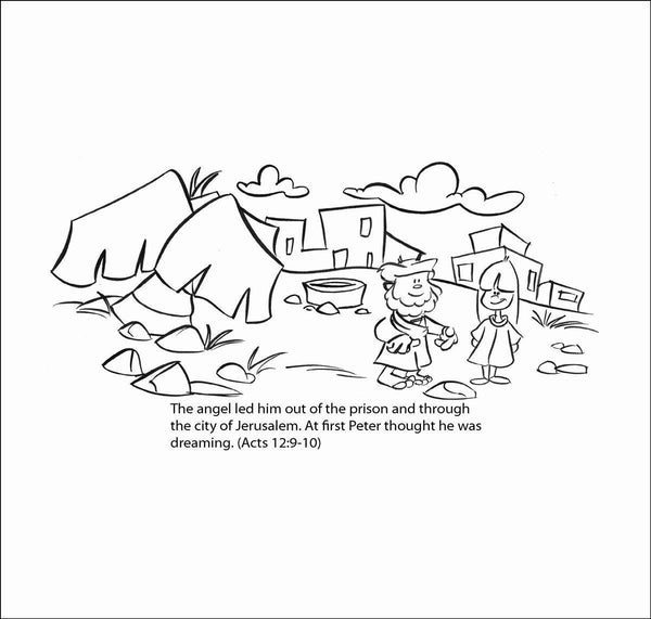 Peter In Prison Coloring Page - Coloring Home | 571x600