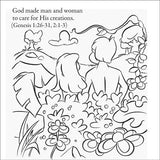 Creation Story Including Adam and Eve - 12/Pk Size: 6 x 6