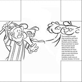 Moses Parting the Red Sea Bible Story Card - 12/Pk size:  6 x 6