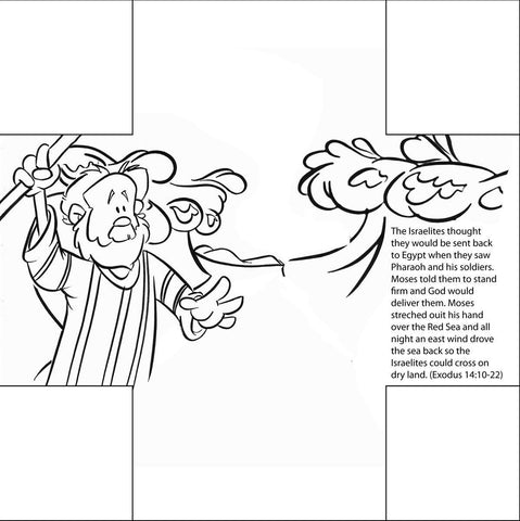 Moses parting the Red Sea Bible Story Card by Memory Cross