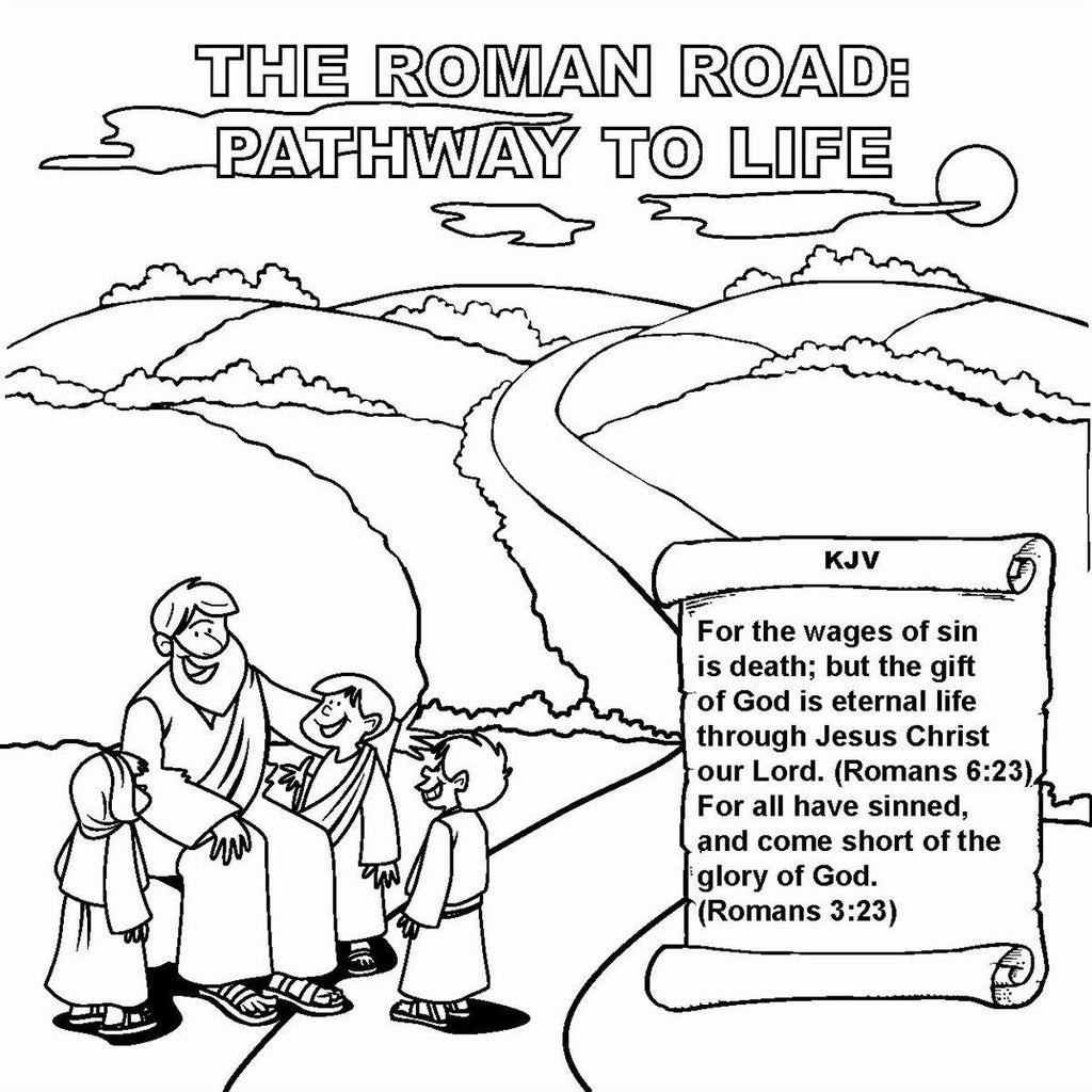 The Roman Road Tract: Pathway to Life KJV Version - 12/Pk size: 6 x 6
