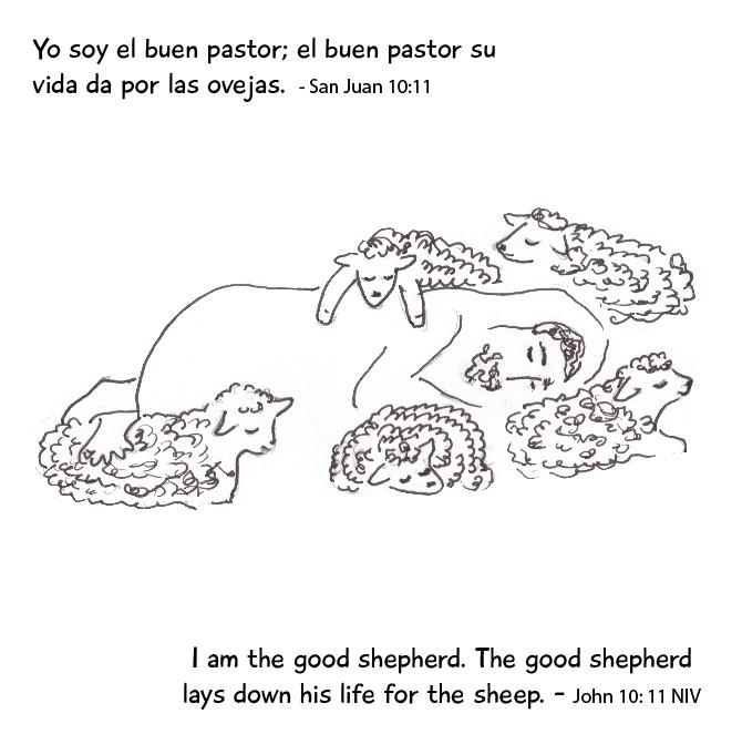 I am the Good Shepherd English/Spanish story card 12/pack