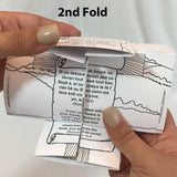 Haitian and English Origami Gospel Tract and Craft Activity for Children - 12/pk 30105