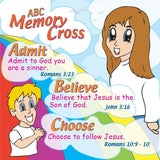 ABC Plan of Salvation for Kids - 24 cards per pack.  Size: 3 3/8 x 3 3/8