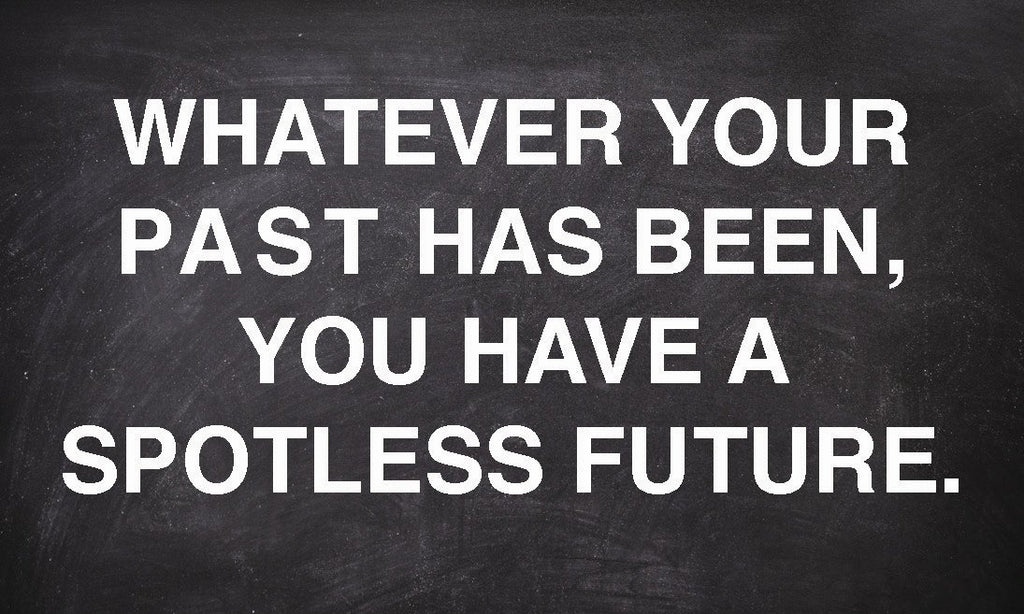 Whatever Your Past You Have a Spotless Future Tract.  Business Card size 25/pack