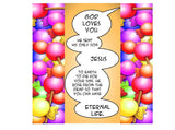Super Hero Halloween Gospel Tract  24/pack  Size: 3 3/8 x 3 3/8