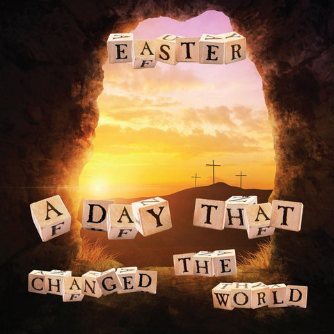 Easter - A Day That Changed The World Tract For Kids  24/pack  Size: 3 3/8 x 3 3/8