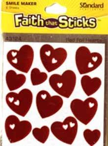 Faith that sticks - Red heart stickers - 6 sheets per pack