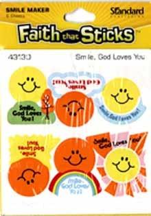 Smile God loves you stickers  6 sheets per pack