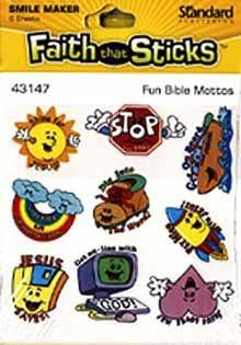 Fun Bible Mottos stickers 6 sheets per pack