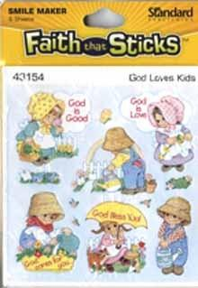 God loves kids stickers 6 sheets per pack