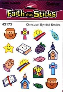 Faith that Sticks Christian Symbol Smiles - 6 sheets per pack