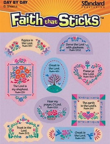 Psalm stickers  6 sheets per pack